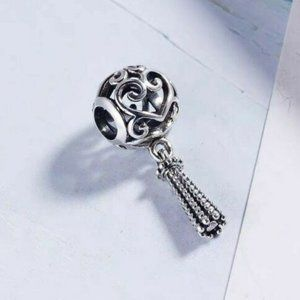 New Authentic Pandora Silver Charm Enchanted Heart